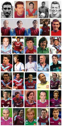 West Ham United Player of the Year 1958-2012