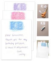 Art Projects for Kids: Monogrammed Stationery