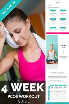 Exercise is a crucial part of our PCOS lifestyle and management strategy. It helps to make us more sensitive to insulin, improves the metabolic markers of PCOS and can help to improve our symptoms. Get this free 4 week workout when you join me on my Managing PCOS Naturally Masterclass. 4 Week Workout, Workout Guide, Polycystic Ovarian Syndrome, Ovarian Cyst, Pcos Exercise, Treatment For Pcos, Pcos Diet, Lose Weight, Weight Loss