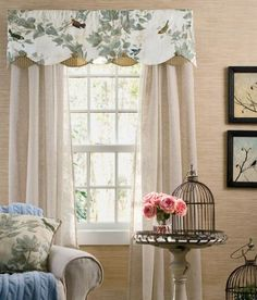 Aviary Lined Layered Scalloped Valance Curtain StylesCountry