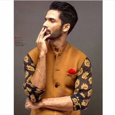 """""""Shahid Kapoor for Sabyasachi Mukherjee. Can't wait to see more emphasis on mens fashion in India! #sabysachi #sabyasachimukherjee #shahidkapoor…"""""""