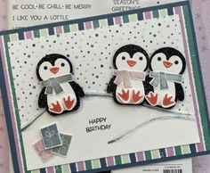 Homemade Christmas Cards, Stampin Up Christmas, Christmas In July, Homemade Cards, Holiday, Bday Cards, Christmas Catalogs, Animal Cards, Winter Cards