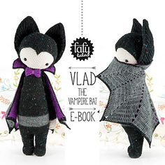 Ravelry: lalylala VLAD the vampire bat pattern by Lydia Tresselt