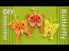 ▶ How to: Macramé Butterfly / Papillon, Farfalla, Mariposa, Borboleta, Schmetterling, Бабочка - YouTube