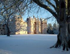 Fyvie Castle, in the lowlands of Aberdeenshire, Scotland