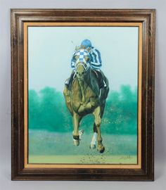 This is a superb estate found original oil painting on canvas by listed American artist Ron Balaban. This large painting featuresSecretariat, the famed thoroughbred race horse who won the United States Triple Crown in 1973. | eBay!
