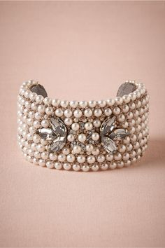 Pearl Plate Cuff in Shoes & Accessories Jewelry Bracelets at BHLDN