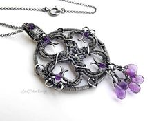 Wire Wrapped Sterling Silver And Purple by LovePotionDesign, €200.00