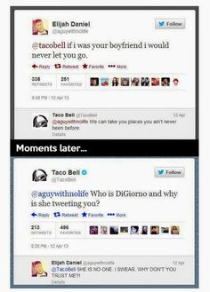 Taco Bell wins. 16 Reasons Why Taco Bell Wins At Social Media 9 - https://www.facebook.com/diplyofficial
