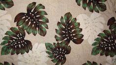 Hawaiian Shirt Leaves Size 2XL (50/52) Beige Green Cream Puritan Men's #Puritan #Hawaiian