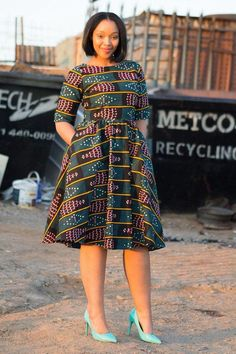 African print dress Ankara print African by EssieAfricanPrint African Dresses For Women, African Print Dresses, African Fashion Dresses, African Attire, African Wear, African Prints, African Women, Ghanaian Fashion, African Style