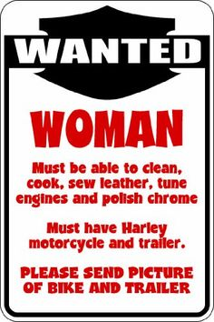 NASCAR Road Bikes coupon  (Misc124) Wanted Woman Bike Biker Trailer Humorous Novelty Parking Sign 9x12 Aluminum
