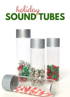 These sound tubes offer preschool students a great holiday themed sensory activity while exploring the science of sound at preschool. These sound tubes offer preschool students a great holiday themed Christmas Activities For Toddlers, Activities For 2 Year Olds, Preschool Christmas, Toddler Christmas, Holiday Activities, Christmas Crafts For Kids, Christmas Ideas, Homemade Christmas, Family Activities