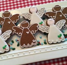 """Cookies by Debbie LLC on Instagram: """"Heaven gained a new Angel last week, my Mom. These Christmas gingerbread angels were made especially with her in mind. ❤️"""""""