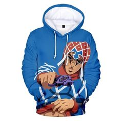 JoJo/'s Bizarre Adventure GUIDO MISTA 3D Hoodie Sweatshirt Jacket Sweater Coat