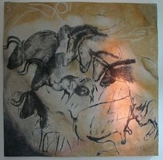Four Horses in Chauvet Cave, France