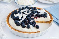 Tarta z mascarpone i jagodami - I Love Bake Sweet Recipes, Cheesecake, Food And Drink, Sweets, Baking, My Love, Goals, Cook, Cakes