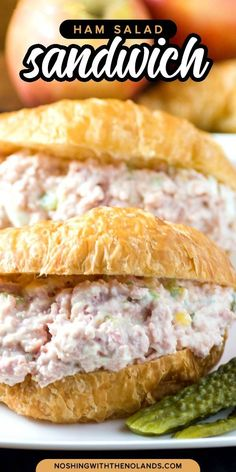 This ham salad recipe is great to use up leftover ham or you can use canned ham also. Either way you want it finely chopped for the best sandwich ever! Grill Sandwich, Best Sandwich, Soup And Sandwich, Ham Salad Recipes, Sandwich Recipes, Recipe For Canned Ham, Cold Sandwiches, Ham Salad Sandwiches, Leftover Ham