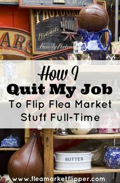 I recently quit my 'real job' to flip my fun finds from the flea market, thrift stores and yard sales full-time, and I wouldn't have it any other way!
