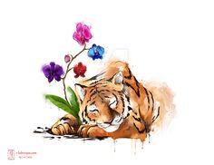 Sleeping Tiger Tattoo by lorestra on DeviantArt