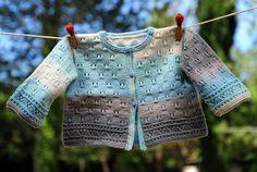 layette petit gilet en coton 3 mois neuf tricoté main : Mode Bébé par com3pom