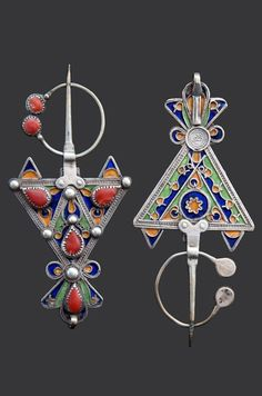 The Pulsing Patterns of Traditional North African Jewelry Ancient Jewelry, Antique Jewelry, Antique Silver, Mughal Jewelry, Vintage Jewelry, African Jewelry, Tribal Jewelry, Silver Jewelry, Silver Rings