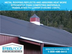 Steel Roof Panels offer Metal Roof Panels & Reroofing Supplies for Standing Seam & Corrugated Metal Roofs. Metal Roofing Systems, Roofing Options, Steel Roofing, Roofing Materials, Steel Roof Panels, Metal Panels, Pergola With Roof, Patio Roof, Metal Roof Repair