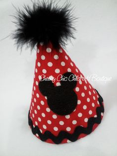 Mickey Mouse inspired birthday hat