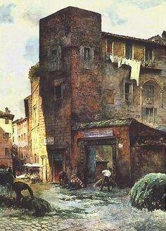 Ettore Roesler Franz e la Roma perduta Torre Margana