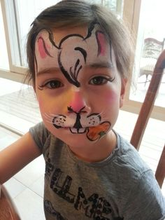 Bunny face painting design easter pinterest face painting easter bunny face paint solutioingenieria Image collections