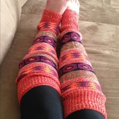 Beautiful knit Aztec leg warmers! NWT Aztec leg warmers! This beautiful knit pattern is so cozy and warm. Perfect for lounging around the house or wearing with boots to add a pop of color! Only 5 pairs available!! Three Bird Nest Accessories Hosiery & Socks
