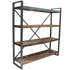 Loft Display Unit 4 Shelves ($905) ❤ liked on Polyvore featuring home, furniture, storage & shelves, spice shelf, 4 shelves, 4 shelf, shelves furniture and shelf furniture
