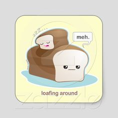 Loafing Around Sticker by Kimchi Kawaii #lol #cute #kawaii #pun #humor #sticker #kimchikawaii #zazzle
