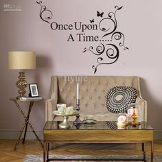 Once Upon a Time-Black Vinyl Wall Lettering Stickers Quotes And Sayings Home Art Decor Decals And Stickers for Home Living Room from Flylife,$4.19 | DHgate.com
