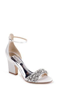 Soft White Laraine Crystal Embellished Evening Shoe