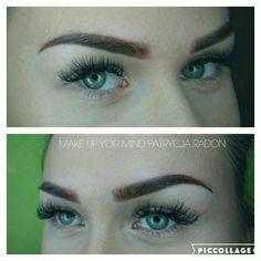 Makijaż technika Powder effect  Makijaż permanentny  Makeupyourmindgdynia@gmail.com
