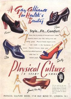 Vintage Chic: The Decade in Shoes: 1940s shoes swing war era color illustration print ad loafer heels pumps blue black brown