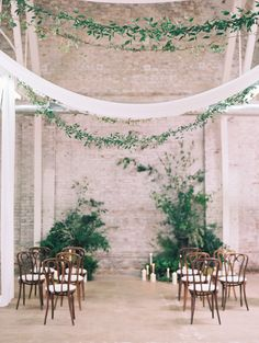 Indoor ceremonies can be glammed up with the use of plants, candles and…