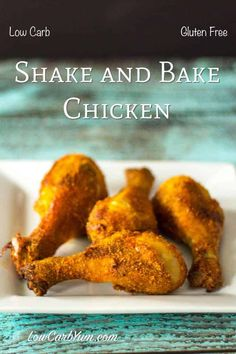 Gluten Free Shake and Bake Chicken - Paleo Friendly - This simple oven fried shake and bake chicken recipe is gluten free and low carb. The preparation t - Low Carb Shakes, Keto Shakes, Baked Chicken Legs, Chicken Leg Recipes, Keto Chicken, Almond Chicken, Chicken Shake And Bake, Gluten Free Fried Chicken, Poulet Keto