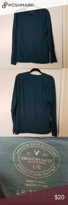 long sleeve tee worn once, like brand new super comfortable, 100% cotton. American Eagle Outfitters Shirts Tees - Long Sleeve