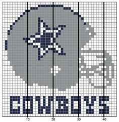 Dallas Cowboys Afghan pattern