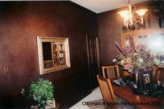 faux eggplant color painting | Eggplant Walls with Metallic Finish