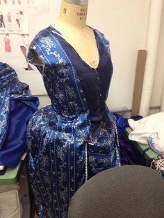 My WIP bodice and skirt for the Wishing Gown