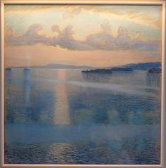 Lake Keitele: A Vision of Finland at National Gallery Pittsburgh Art, Fools And Horses, Popular Paintings, Best Rooftop Bars, Post Impressionism, Sea Art, Looks Cool, Landscape Art, Modern Art