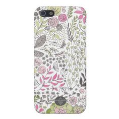 Sweet Pink and Green Floral iphone 5 Case by Luscious Verde