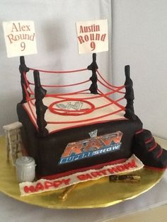 Wwe Wrestling Cake My Cakes And Cupcakes Pinterest