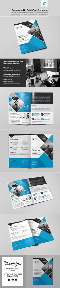 Corporate Bi-fold Brochure Template PSD. Download here: https://graphicriver.net/item/corporate-bifold-brochure-template-07/17183797?ref=ksioks