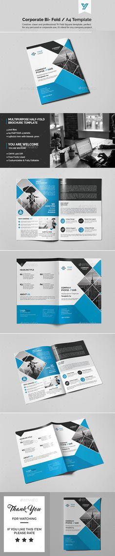 Corporate Bi-fold Brochure Template PSD. Download here: https://graphicriver.net/item/corporate-bifold-brochure-template-07/17183797?ref=ksioks