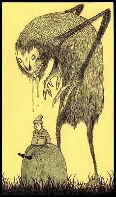 John Kenn Monster Art, Monster Drawing, Monster High, Creepy Monster, Gravure Illustration, Monster Illustration, Illustration Art, Arte Horror, Horror Art