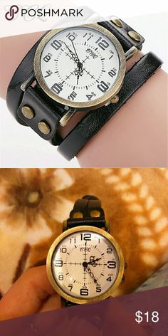 Spotted while shopping on Poshmark: CCQ Vintage Cow Leather Bracelet Watch High Qualit! #poshmark #fashion #shopping #style #Accessories